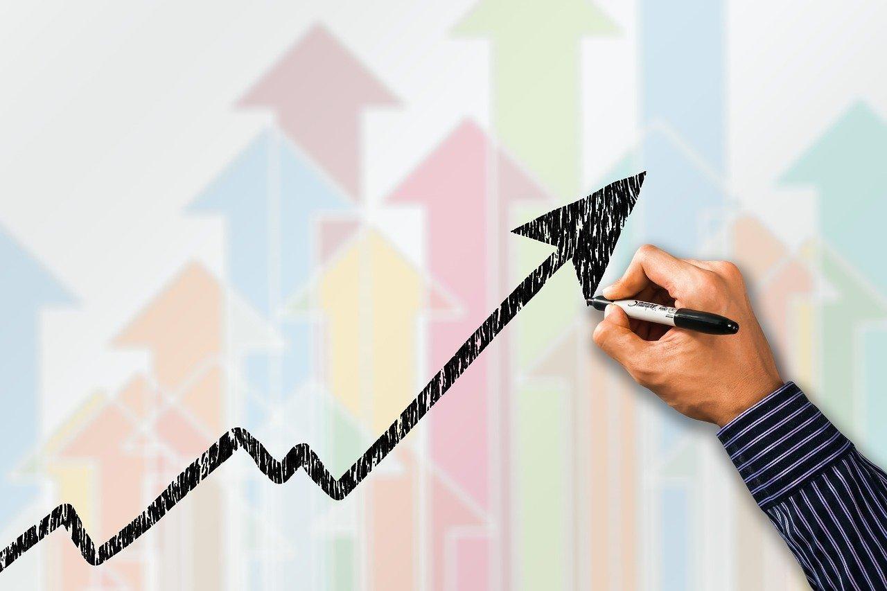 business, success, curve