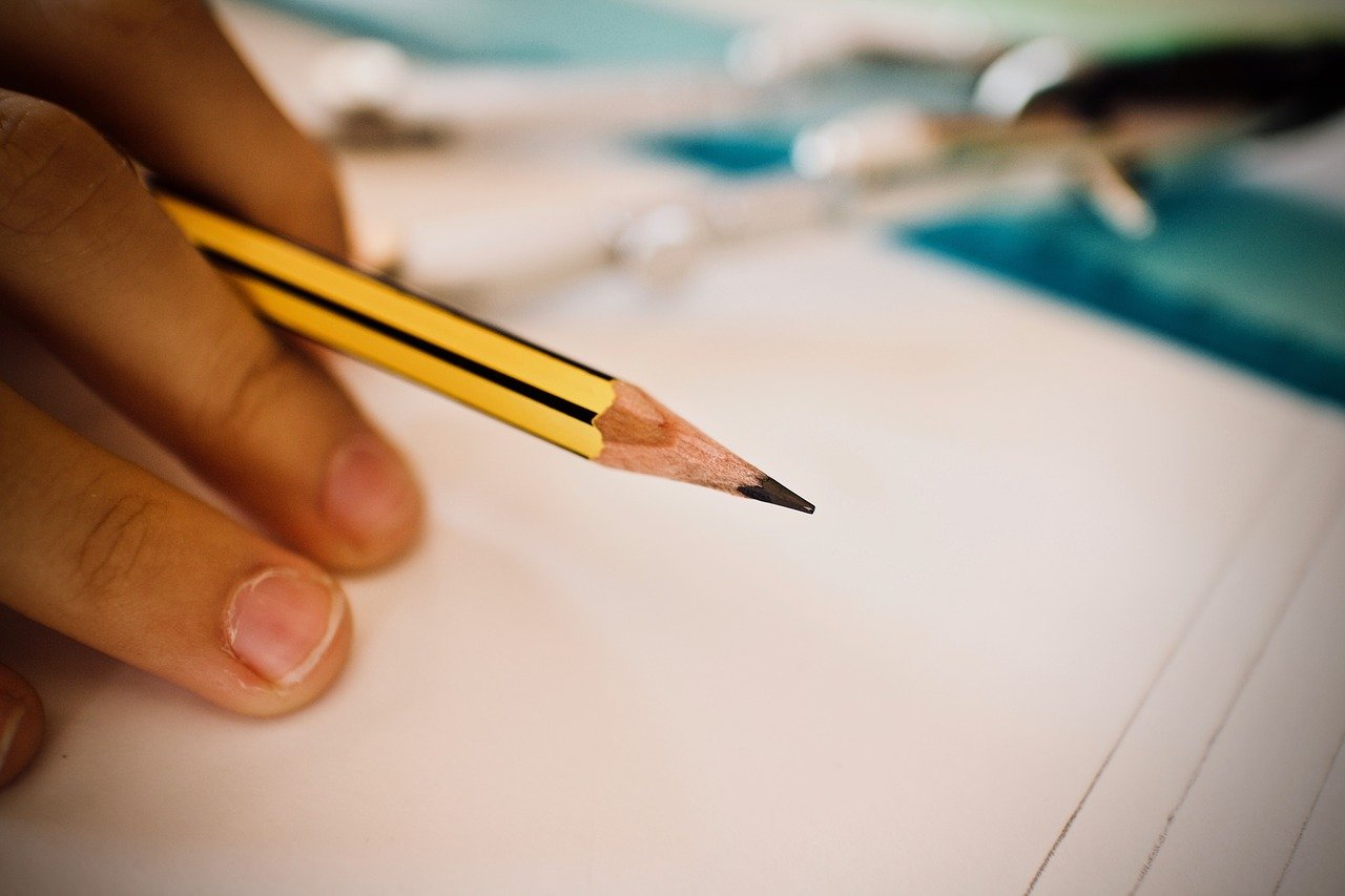 pencil, ruler, school